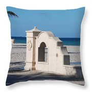 Hollywood Beach Wall In Color Throw Pillow