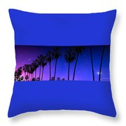 Hollywood Palm Tree Abstract Throw Pillow