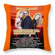 Hollywood P.d. Undercover Throw Pillow by The Scott Shaw Poster Gallery