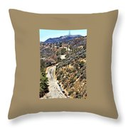 Hollywood Sign / Hollywood Hills Throw Pillow