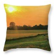 Holmes County Sunrise Throw Pillow