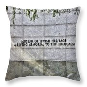Holocaust Museum Of Jewish Heritage Ny Throw Pillow