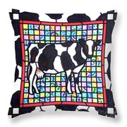 Holstein 3 Throw Pillow