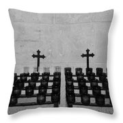 Holy Candles.... Throw Pillow