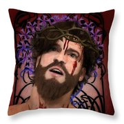 Holy Face Of Ecce Homo Throw Pillow
