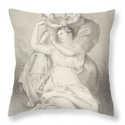 Holy Family, From Michelangelo Throw Pillow