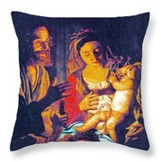 Holy Fruits Throw Pillow