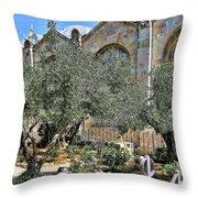 Holy Gardens Throw Pillow