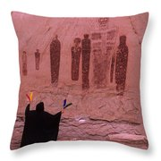 Holy Ghost Petroglyph Into The Mystic Throw Pillow