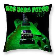 Holy Grail 1959 Retro Relic Guitar Throw Pillow