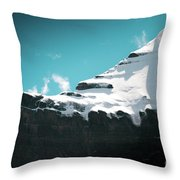 Holy Kailas Fragment Himalayas Tibet Yantra.lv Throw Pillow