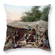 Holy Land: Bedouin Camp Throw Pillow