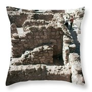 Holy Land: Qumran Ruins Throw Pillow