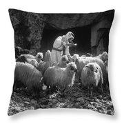 Holy Land: Shepherd, C1910 Throw Pillow
