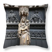 Holy Mary And Child Throw Pillow