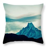 Holy Mount Fish Tail Machhapuchare 6998 M Throw Pillow