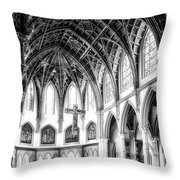 Holy Name Cathedral Chicago Bw 03 Throw Pillow