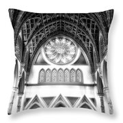 Holy Name Cathedral Chicago Bw 06 Throw Pillow