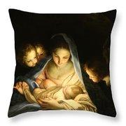 Holy Night Throw Pillow