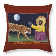 Holy Sadhu Sundar Singh 189 Throw Pillow