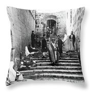 Holy Sepulchre Stairs Throw Pillow