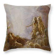 Holy Spirit Comes Throw Pillow