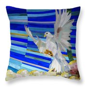Holy Spirit Dove Throw Pillow
