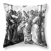 Holy Spirit Visiting Throw Pillow