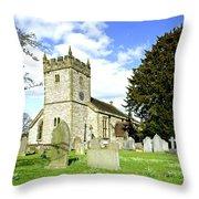 Holy Trinity Church - Ashford-in-the-water Throw Pillow