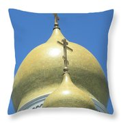 Holy Virgin Cathedral In San Francisco Throw Pillow