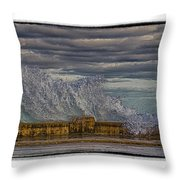 Homage To Hokusai Throw Pillow
