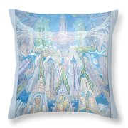 Homage To New York And The Chrysler Building Throw Pillow