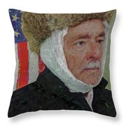 Homage To Van Gogh Selfie Throw Pillow