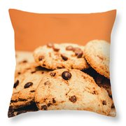 Home Baked Chocolate Biscuits Throw Pillow