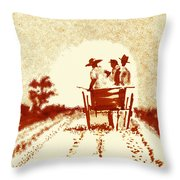 Home Before Dark Throw Pillow