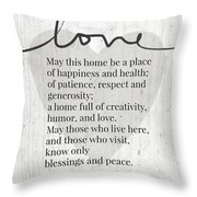 Home Blessing Rustic- Art By Linda Woods Throw Pillow