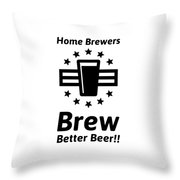 Home Brew Logo Range Throw Pillow