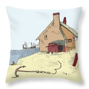 Home By The Sea Throw Pillow by Donna Munro
