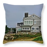 Home By The Shore Throw Pillow