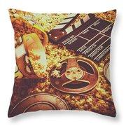 Home Cinema Art Throw Pillow