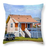 Home In Nags Head 3 Throw Pillow
