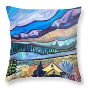 Home In The Hills Throw Pillow
