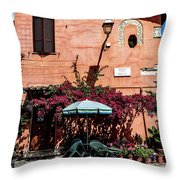 Home In The Piazza Throw Pillow