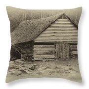 Home In The Woods Sepia Throw Pillow