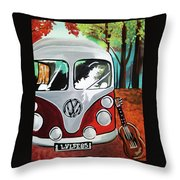 Home Is Where The Van Is Throw Pillow