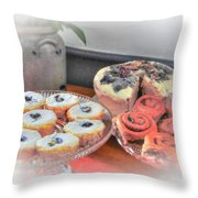 Home Made Deserts  Throw Pillow