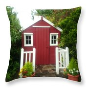 Home Made Shed Throw Pillow