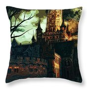 Home Of Darkness Throw Pillow