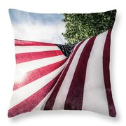 Home Of The Free Throw Pillow