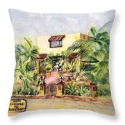Home On Belmont Shore Throw Pillow